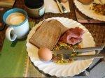 西式早餐加杯拿鐵, 也是人生一大享受.