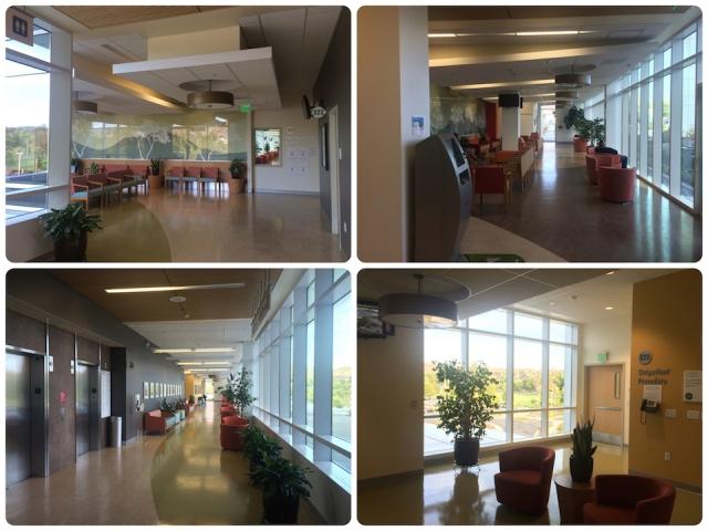 空曠的聯合診所等待區